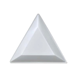 Triangle Spill Trays - White