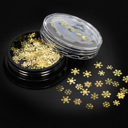 Snowflakes Slices - Gold